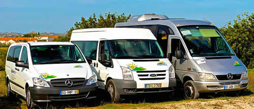 Carrinhas Ford e minibuses Mercedes para transfers privados